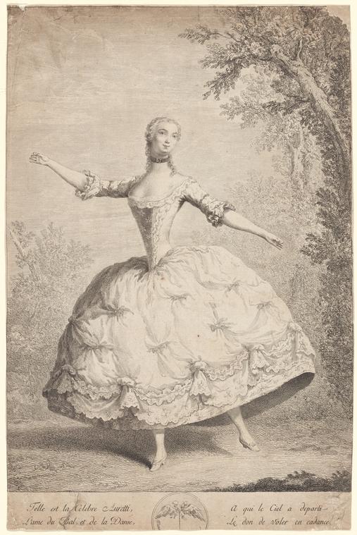 Mlle Auretti by an anon. artist. Copy New York Public Library.