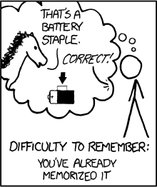 "Cartoon depicting an imagined horse, looking at a battery with a staple stuck in it. The horse says, ""that's a battery staple."" A voice out of frame says, ""Correct!"""