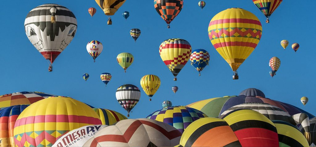 Credit: Pexels Hot air balloons floating in the air  (example picture)