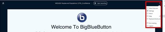Big Blue Button ellipsis options