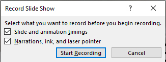 Click Start Recording