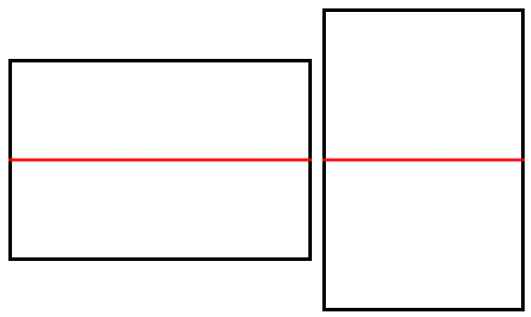 Example of using horizontal symmetry