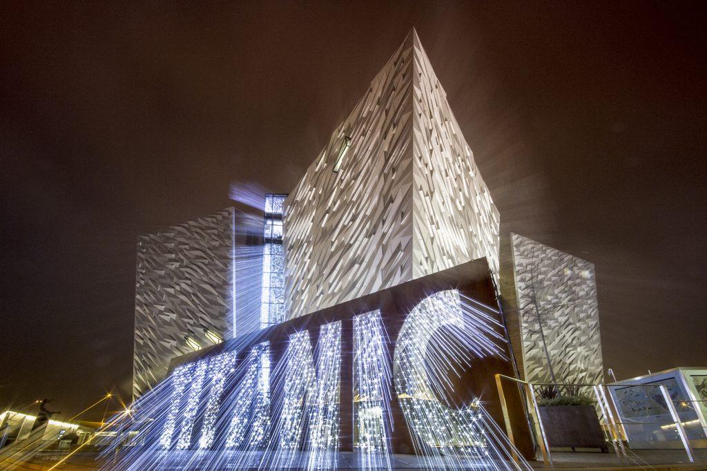 Credit: Daria Casement Zoom burst of Titanic Building Belfast