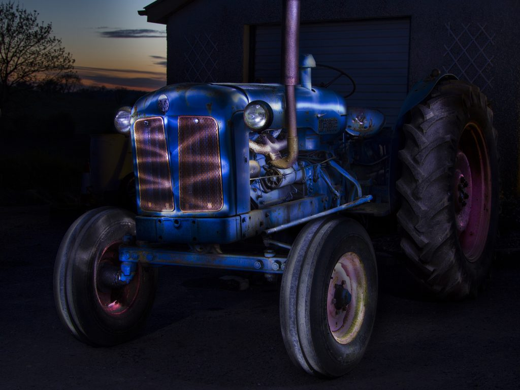 Credit: Daria Casement - tractor painted with light