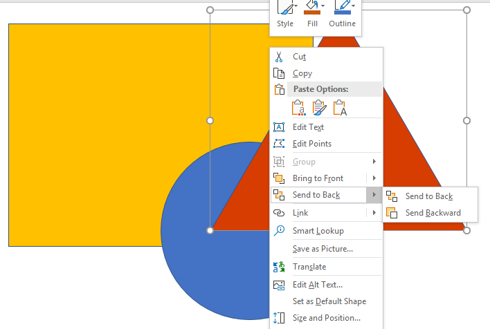 PowerPoint, changing the sequence of shapes