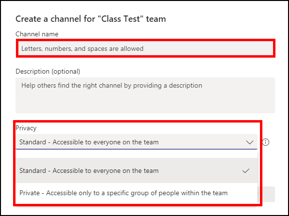 MS Teams - Channel Privacy