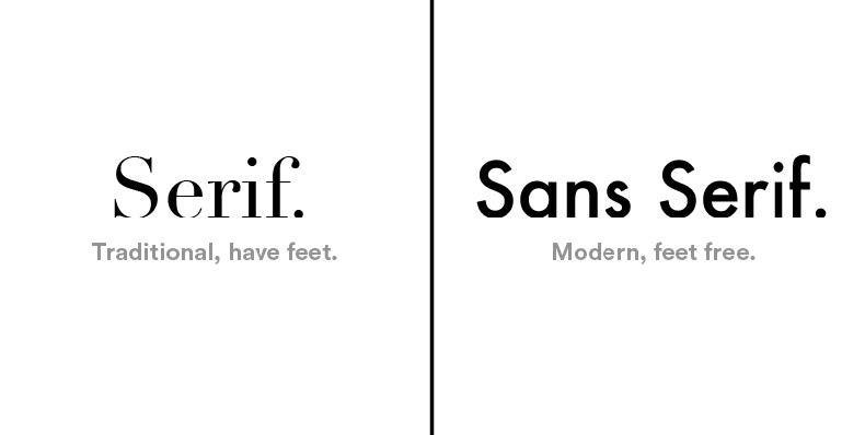 Serif vs Sans Serif example
