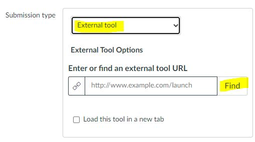 Canvas - External Tool submission