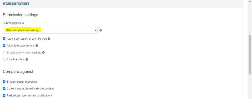 Tii - optional settings