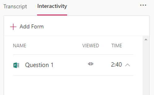 MS Stream - adding in Interactivity (MS Forms)
