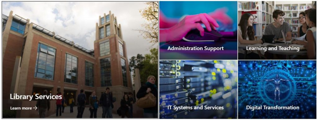 Queen's - Information Services Intranet page continued