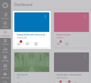 screenshot of Getting Started with Canvas course on Canvas dashboard