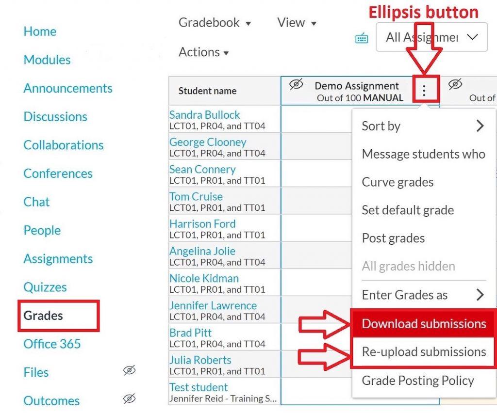 ellipsis in gradebook