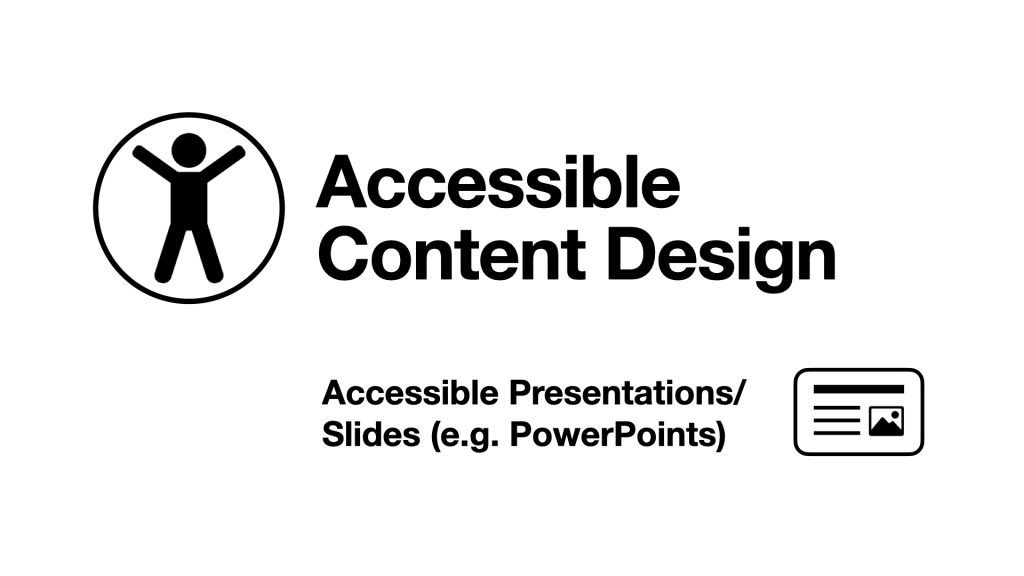 Accessible Presentations Image