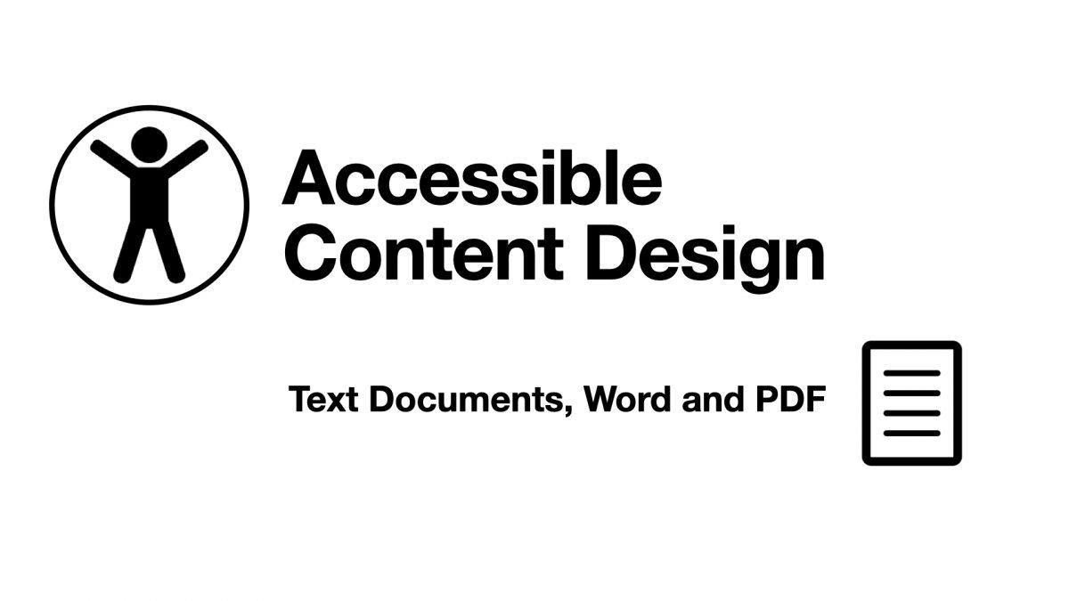 Accessible Content Design