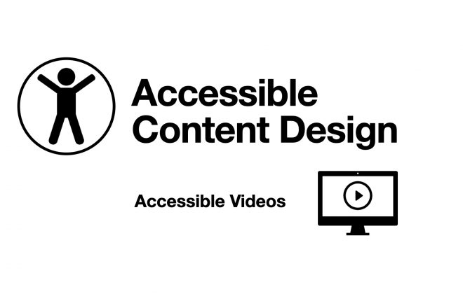 Accessible Content Design for Accessible Videos image