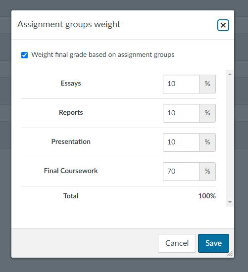 Group Weight Screenshot
