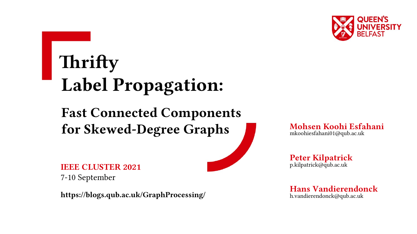 Thrifty Label Propagation: Fast Connected Components For Skewed Degree Graphs