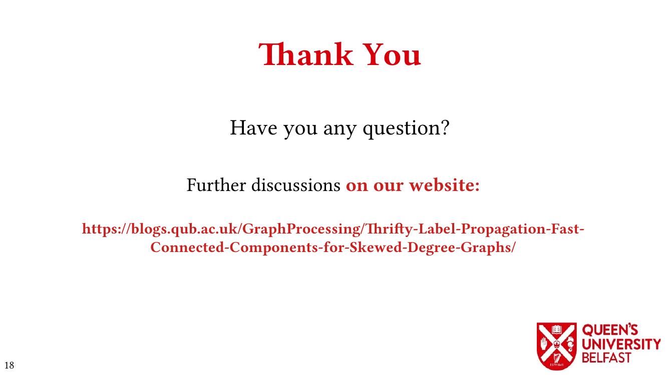 Thrifty Label Propagation:  Thanks
