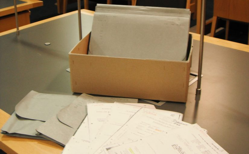 Archive Box with folders and documents